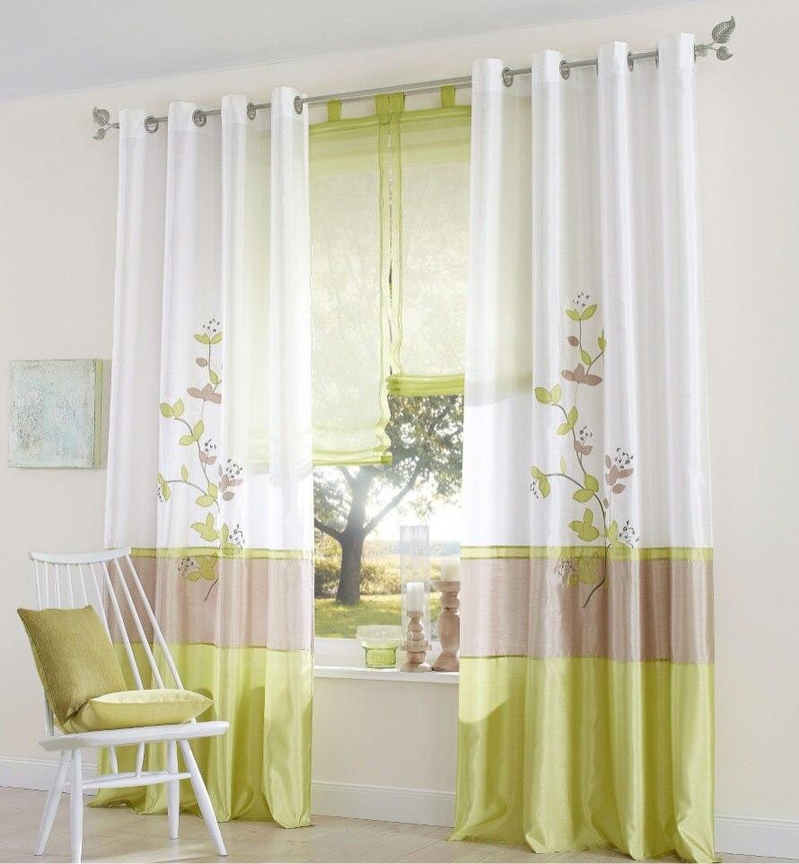 artificial tela de seda bordada cortina dormitorio sala de estar cortina de sombrachina