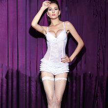 White lace corset slimming body underwear
