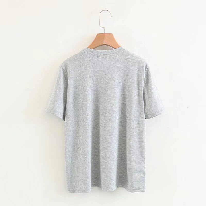Baju Korea 90 S Vintage Tshirt Wanita 80-An Tumblr Wanita T-shirt Wanita Lucu Streetwear Wanita Jenny Teman Baru Tee kemeja