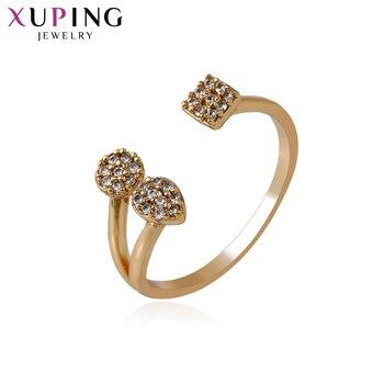 Женское кольцо Xuping, модное, элегантное, покрытое золотом, синтетический фианит, рождественский подарок S53,2-14133