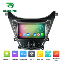 Quad Core 1024*600 Android 5.1 Car DVD GPS Navigation Player Car Stereo for Hyundai MDAvante 2012 Radio 3G Wifi Bluetooth