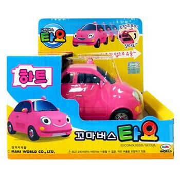Tayo bus tayo corazón oyuncak princesa en miniatura Rosa sedán coche modelo coche Tayo el pequeño autobús niños brinquedos niño niña regalo