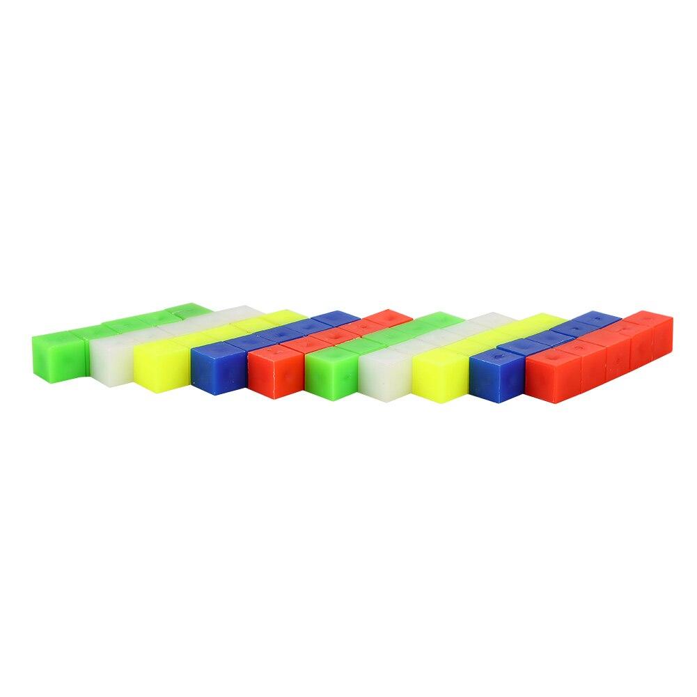 Кубический кирпич счетные кубики матч игрушечные лошадки 5 цветов счеты 50 шт. количество строительство образование DIY Красочные сборочный блок