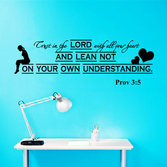 Wall Decal Quotes Bible Verses Psalms Proverbs 35 Trust Vinyl Wall