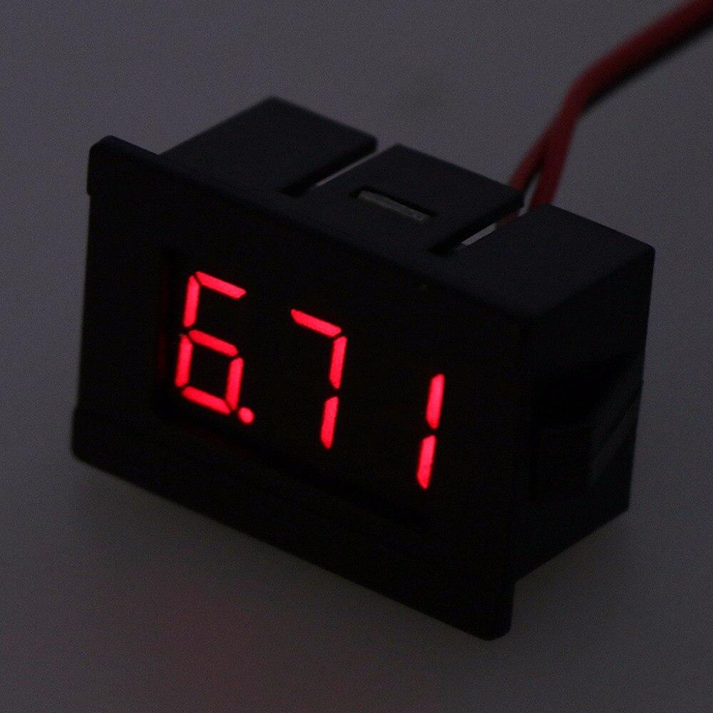 dc 2 wires 4 5 30v mini led digital display voltmeter volt voltage panel meter test meters  [ 1000 x 1000 Pixel ]