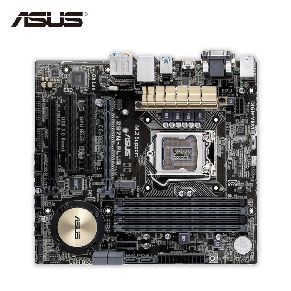 Asus Z97M-PLUS Original New Desktop Motherboard Z97 Socket LGA 1150 i7 i5 i3 DDR3 32G SATA3 USB3.0 Micro-ATX free shipping original motherboard for asus f2a55 m lk2 plus a55 fm2 ddr3 32g