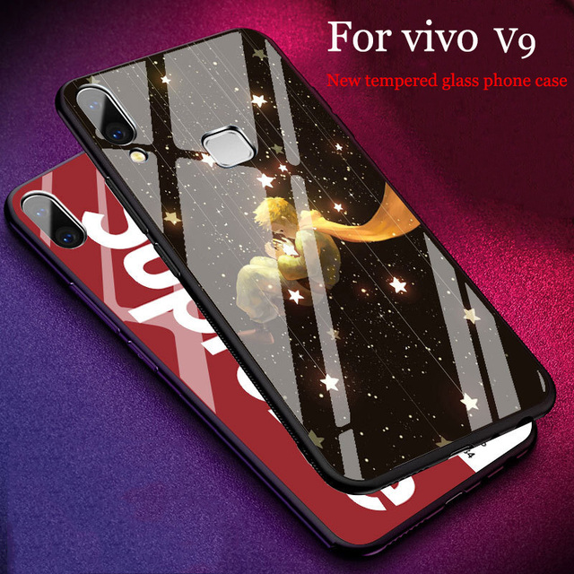 premium selection 24022 f0304 US $15.87 |2PCS Fashion Tempered Glass case For vivo V9 case Cover shell  Fashion Mirror For vivo V 9 case VIVOV9 phone Cases capas fundas-in Phone  ...