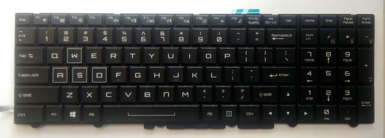 New for Clevo P870ZM P870DMG P870DM3 P870DM2-G P870DM3-G English US laptop keyboard colorful backlit black laptop keyboard for clevo m550 black without frame with trackpoint u s english international ui mp 030834u 4309l