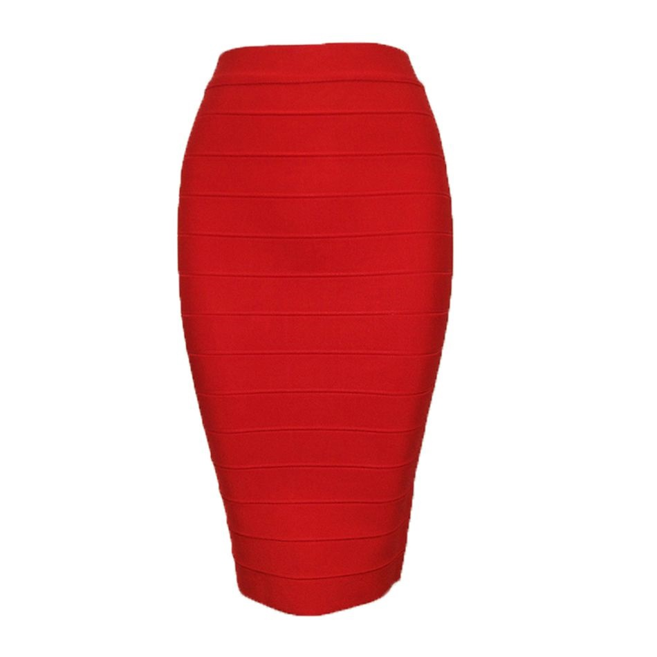 New Fashion Women Bandage Skirts Solid Mid-Calf Nylon Runway Summer Bodycon Short Skirt Celebrity Festival Wear Ladies Clothes