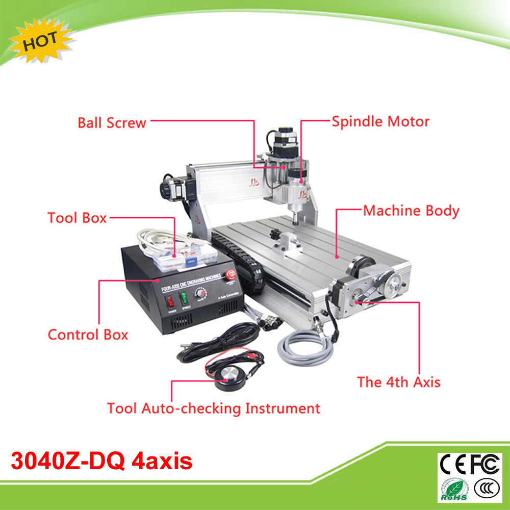 CNC 3040Z-DQ 4 axis mini CNC milling machine with 4th rotation axis for 3d cnc free tax to EU фотобарабан panasonic dq dcd100a7 dq dcd100a7