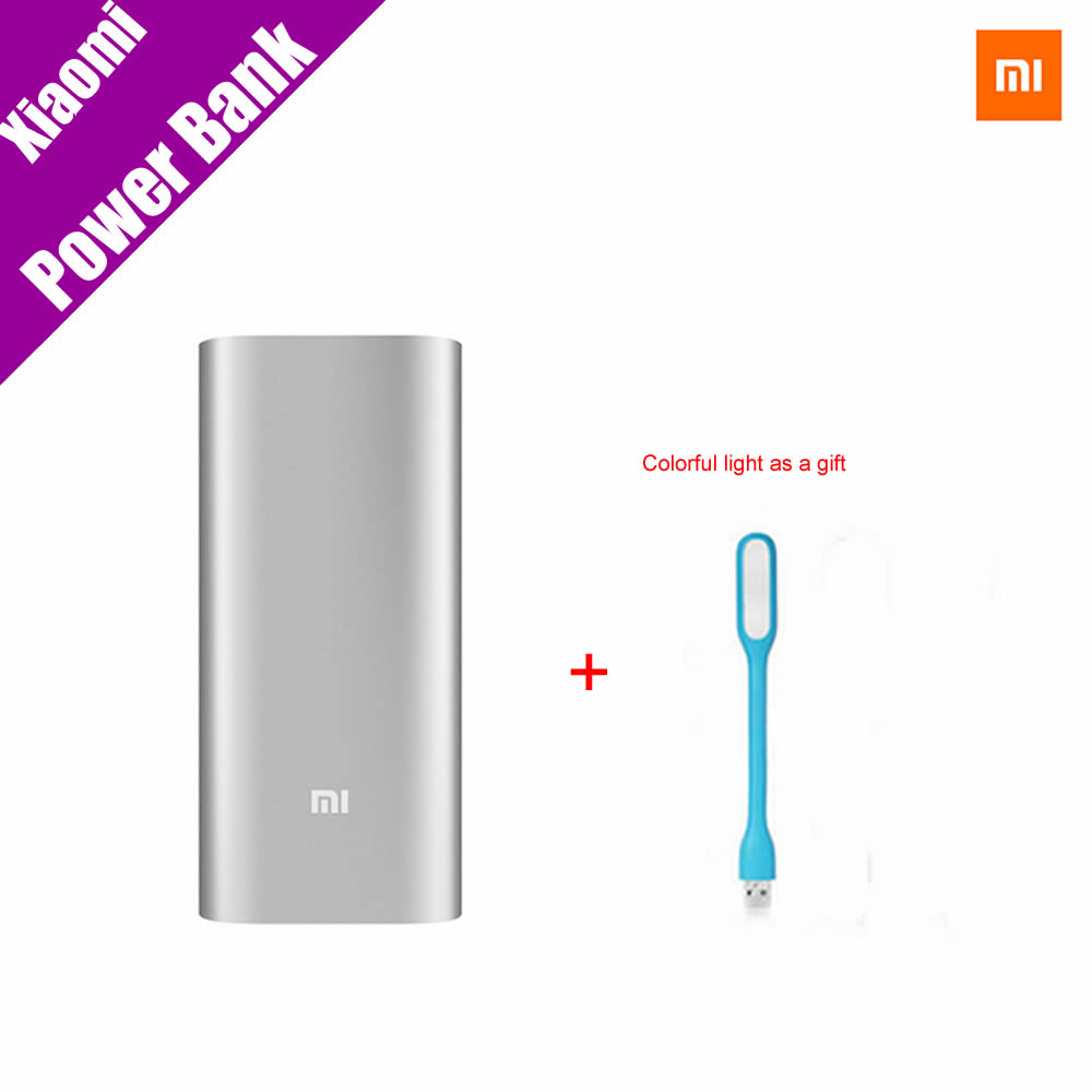 100 Authentic font b Xiaomi b font Power Bank 16000mAh Portable Charger Mi Powerbank External Battery