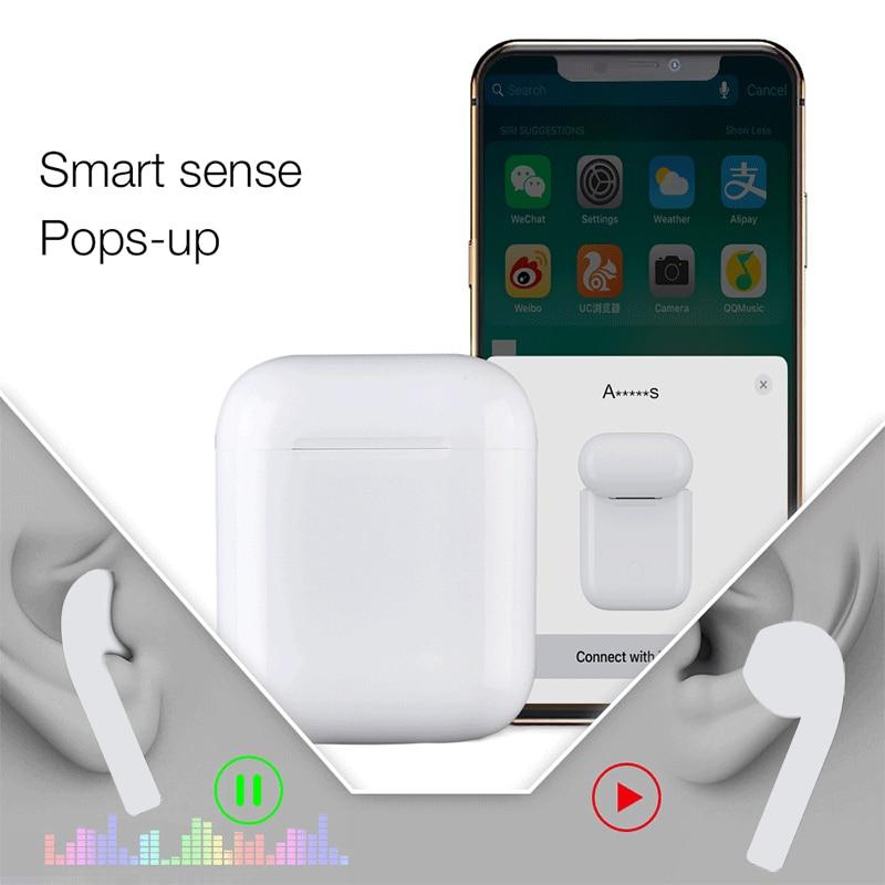 I77 TWS capteur intelligent Pop-up réplique Bluetooth écouteur 6D basse sans fil 5.0 écouteur avec puce W1 PK i100 i90