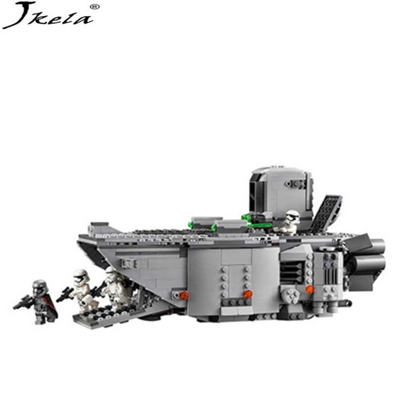 [Jkela] 845pcs Star Wars First Order Transporter Model Building Blocks Bricks Compatible With LegoINGly Starwars Children Model 678pcs diy star wars resistance troop transporter model building blocks compatible with starwars legoingly bricks toys kids gift