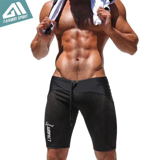 25e4e2a3706 Athletic Men's Sport Tight Shorts Leisure Summer Fitted Gym Men Workout  Shorts Skinny Running Yoga Fight Short for Men AQ160611