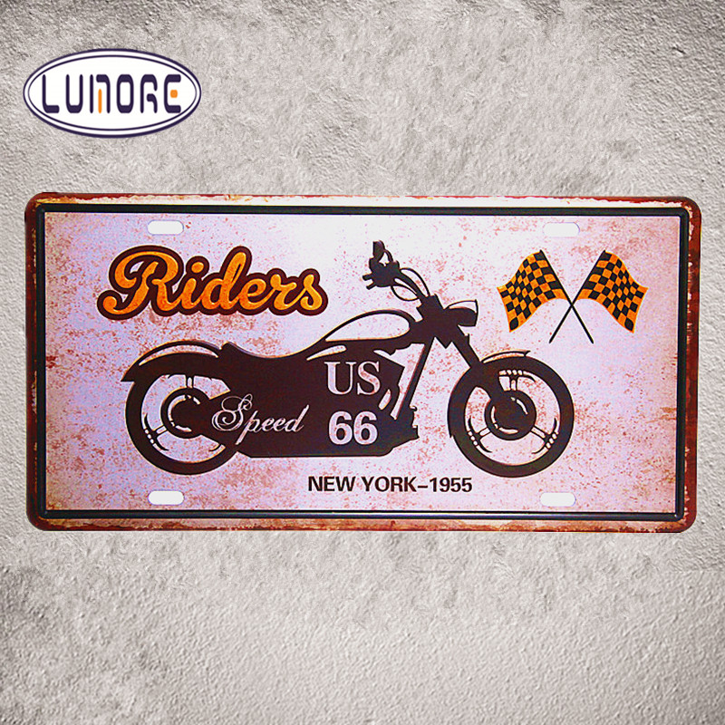USA Route 66 Rider Motorcycle Metal Poster Retro Tin Sign Man Cave Home  Decor Craft Wall Painting 15*30cm In Plaques U0026 Signs From Home U0026 Garden On  ...
