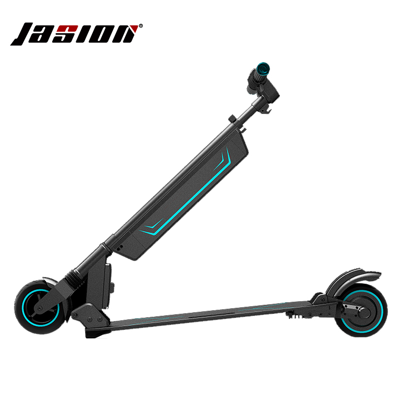 JASION Height adjustable Foldable Electric scooter electric Skateboard suspension longboard Kick