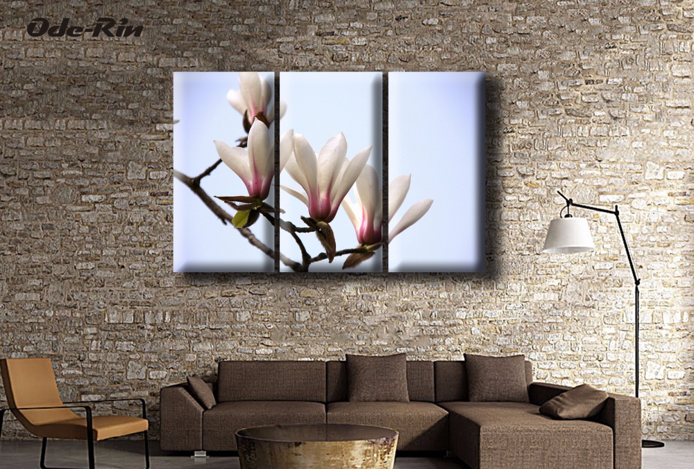 Frameless Paintings Three Rural Style Bedroom Sitting Room Dining Room  Porch Hang A Picture Flowers Blooming In Profusion