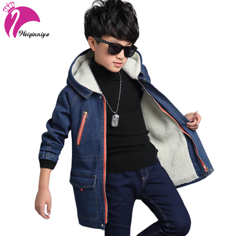 Timed Children store Boys Winter Coat Padded Jacket Outerwear For 6-13T Fashion Hooded Thick Warm Children Parkas Overcoat High Quality New