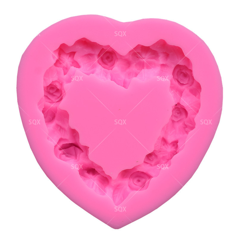 Heart & Flower Shaped Press Fondant Cake Baking Molds,Cake Decorating Tools Pastry Tools Kitchen Accessories SQ1507