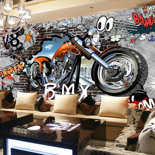 Custom Photo Silk 3d Wallpaper For Walls 3 D Club Harley