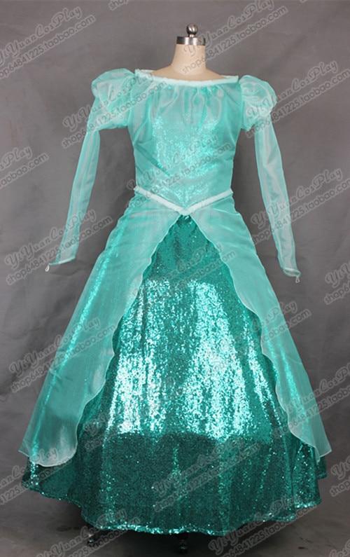 2016 The Little Mermaid Princess Ariel Cosplay Dress Girls Green ...