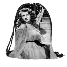 Rita Hayworth Printing Drawstring Backpack Travel Beach School Bags Large  Capacity Customize your images(China 62f145fd26e2f