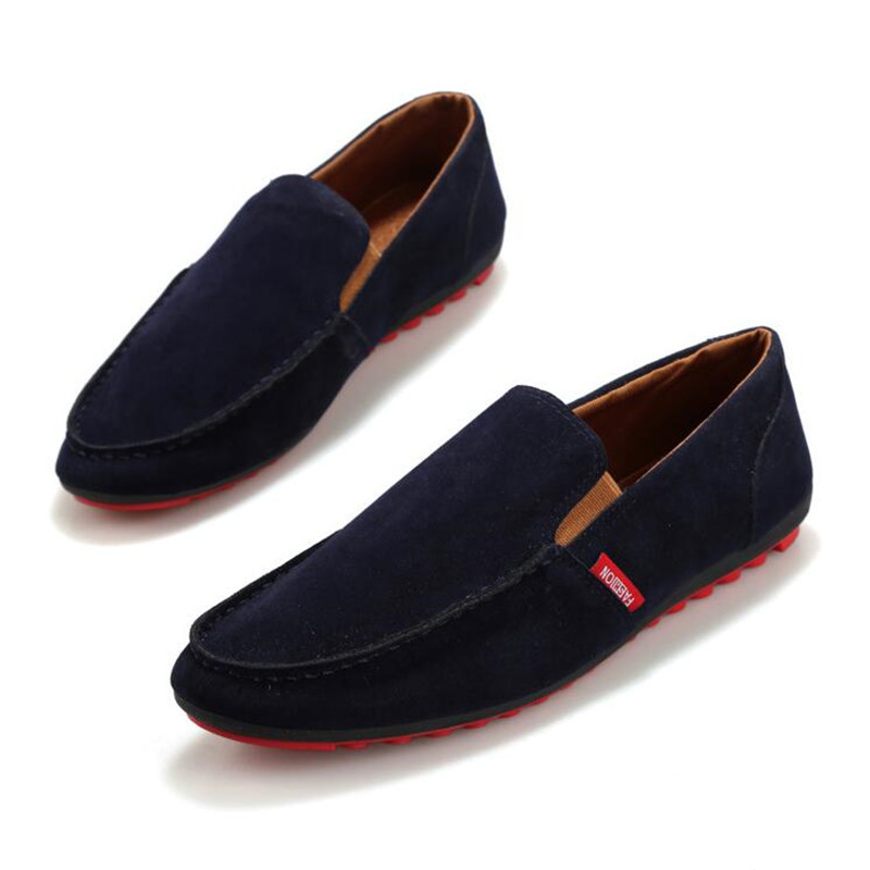 Men PU Suede Leather Casual Shoes Luxury Brand Loafers Lazy Shoes Flats Slip On Driving Shoes Footwear Zapatos Hombre XK072925 fashion nature leather men casual shoes light breathable flats shoes slip on walking driving loafers zapatos hombre
