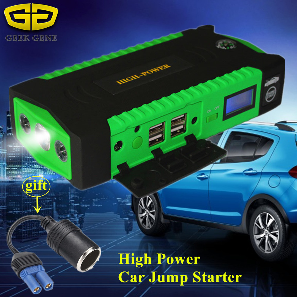 Car Jump Starter 12V 600A Portable Starting Device Power Bank Car Charger For Car Battery Booster Petrol Diesel Car Starter LED 2017 high capacity car jump starter portable car battery charger starting booster 12v auto best quality power bank 14000mah