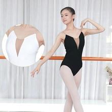 Adults Ballet Leotard Gymnastics Deep V Low Back Dance Bodysuit Women