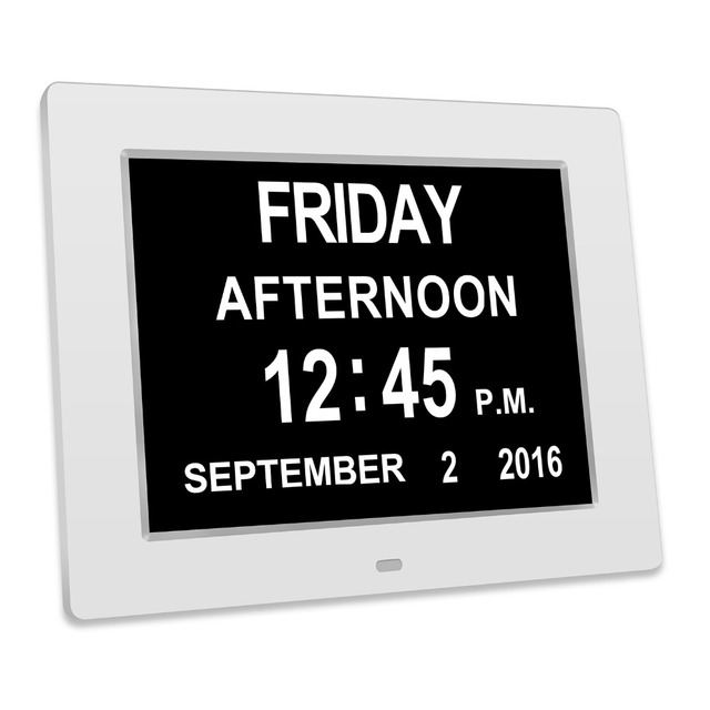 Día digital Reloj Smart Calendarios extra grande no abreviada día y ...