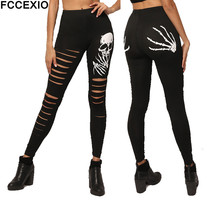 FCCEXO Wholesale 3D Printed High Elasticity Women Legging Sk