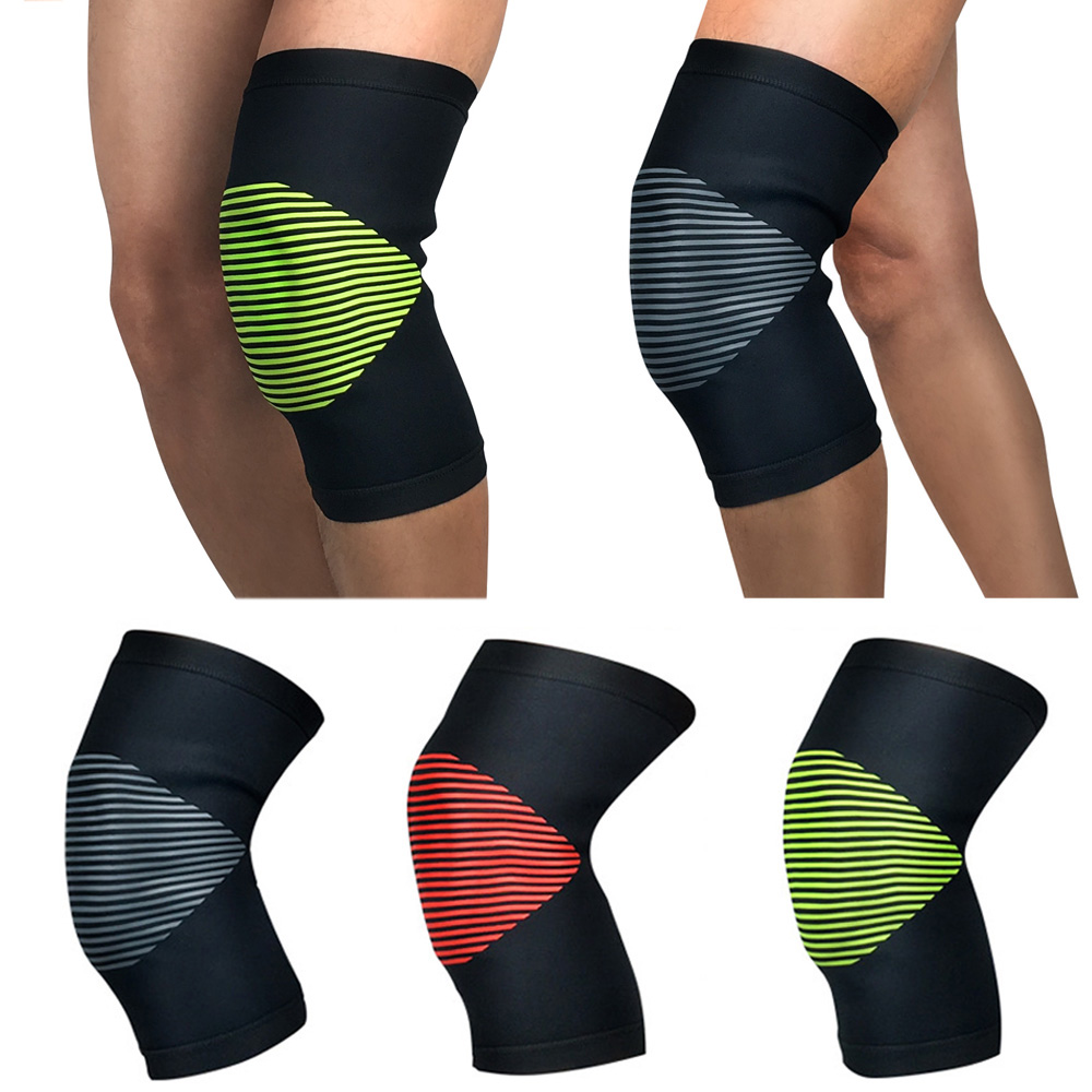 Sports Protection Knee Pads Knee Warmer Striped Pattern Supports Outdoor Sports SPSLF0062