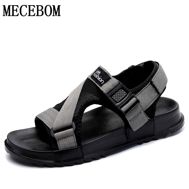 Men's fashion sandals new fashion hook-loop sandals men casual shoes comfortable light flats zapatos big size 36-46 3085m