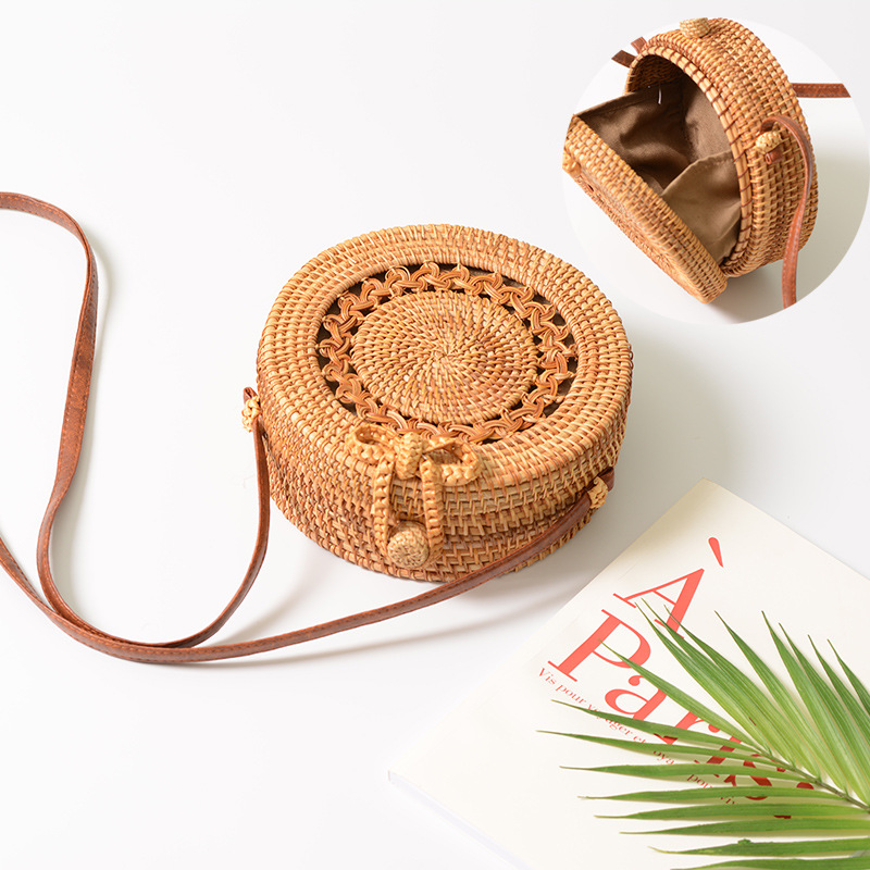 Square Round Mulit Style Straw Bag Handbags Women Summer Rattan Bag Handmade Woven Beach Circle Bohemia Handbag New Fashion 26
