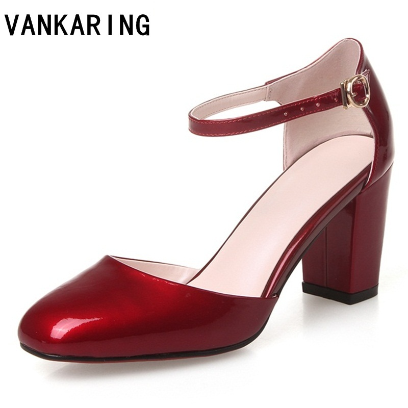 Vankating automne chaussures femmes pompes grace bout rond talons hauts femme boucle sangle chaussures dames robe de bureau pompes de fête chaussures