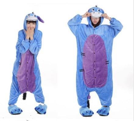Professional Eeyore Donkey Pajamas Costume onesie Fancy Adult Halloween Party