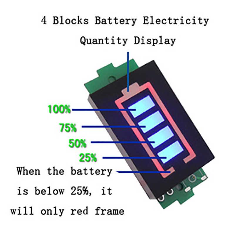 بطارية ليثيوم قدرة مؤشر وحدة الأزرق عرض بطارية اختبار الطاقة لي بو ليثيوم أيون