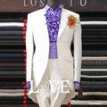 2015 moda traje masculino terno formal vestido de casamento do noivo vestir roupas vestido formal clássico para o cantor dancer boate estrela