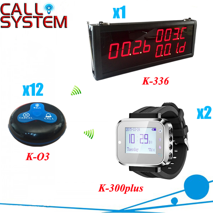 Waiter Call System for restaurant services with 1 display 2 watches and 12 call buttons shipping freeWaiter Call System for restaurant services with 1 display 2 watches and 12 call buttons shipping free
