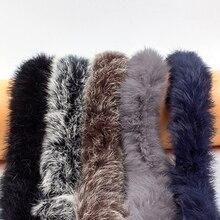 Лента из натурального кроличьего меха, 1 м, лента для шитья одежды своими руками, пушистая отделка, обрезка ткани, домашнее украшение, шитье, ...