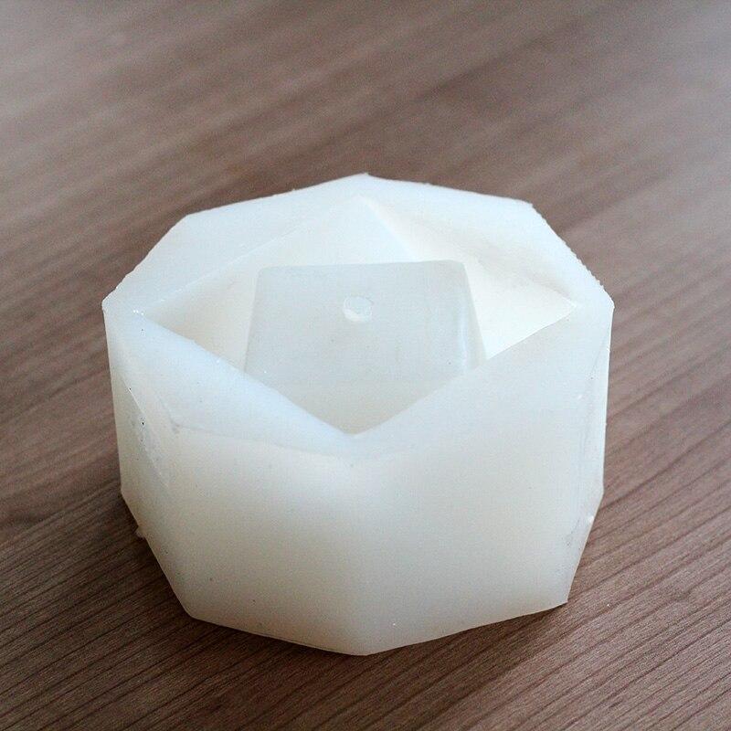 Molde de cemento de silicona de poliedro geométrico para hacer maceta de hormigón molde de fabricación de bonsái artesanal hecho a mano-in Moldes de arcilla from Hogar y Mascotas    2
