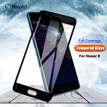 For Huawei honor 8 Tempered Glass 9H Full Cover For Huawei Honor 8 Case Screen Protector For Honor8 Protective Glass Film Cover(China)