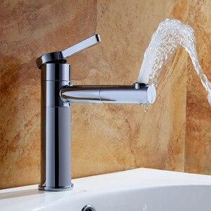 Image 2 - Смесители для раковины, латунный Смеситель для ванной комнаты, смеситель для раковины, смеситель для раковины, поворотный носик, устанавливаемый на раковину белый цвет, Ручной смеситель