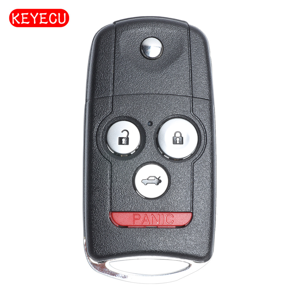 Keyecu Flip Remote Key Fob 4 Button 313.8MHz ID46 Chip For