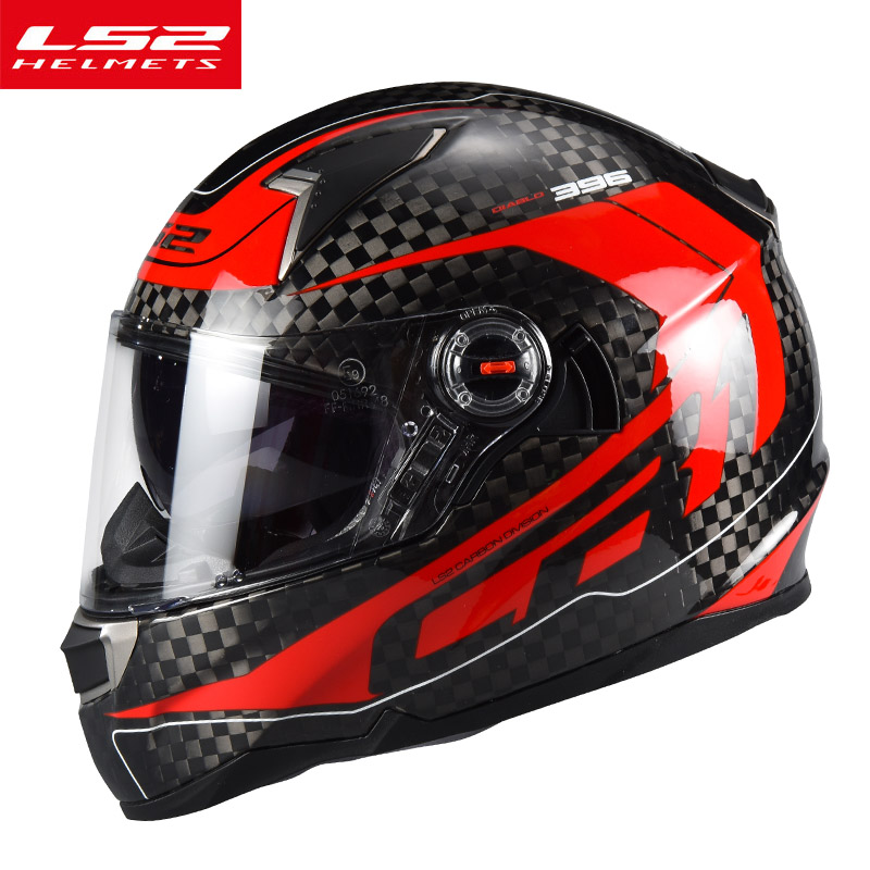 LS2 Factory authority LS2 FF396 Motorcycle helmet Real carbon fiber full face moto helmet With anti