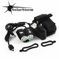 Imperméable à l'eau 5000 Lumen 2x XML U2 LED vélo vélo lumière lampe phare phare + 6400 mAh batterie Pack + chargeur