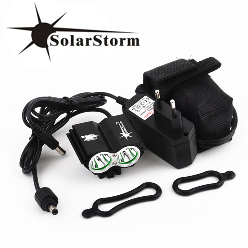 Waterproof 5000 Lumen 2x XML U2 LED Cycling Bicycle Bike Light Lamp HeadLight Headlamp +6400mAh Battery Pack +Charger цены