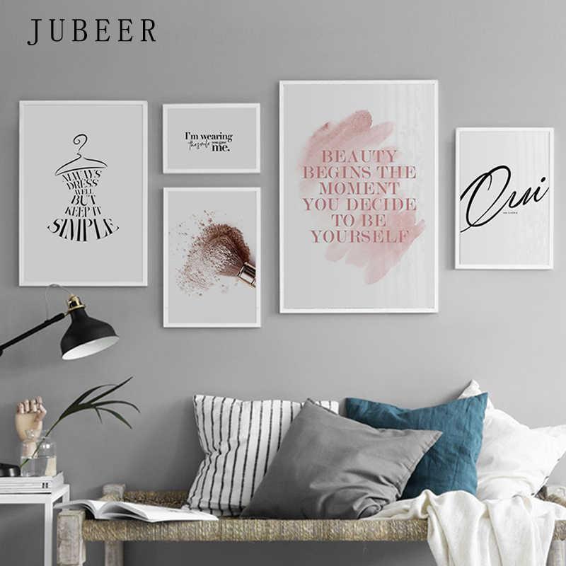 สไตล์นอร์ดิกที่เรียบง่ายMinimalist Wall Artโปสเตอร์และภาพพิมพ์สำหรับห้องนั่งเล่นสายข้อความภาพวาดผ้าใบตกแต่งบ้าน