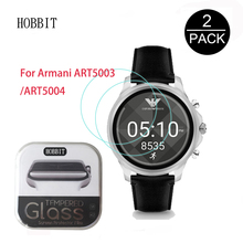 2Pack For Armani ART5003 ART5004 ART5005 Watch Film 0.3mm 2.5D 9H Clear Tempered Glass Screen Protector Scratch Resistant 2pack for suunto spartan sport wrist hr 0 3mm 2 5d 9h clear tempered glass screen protector smart watch film scratch resistant