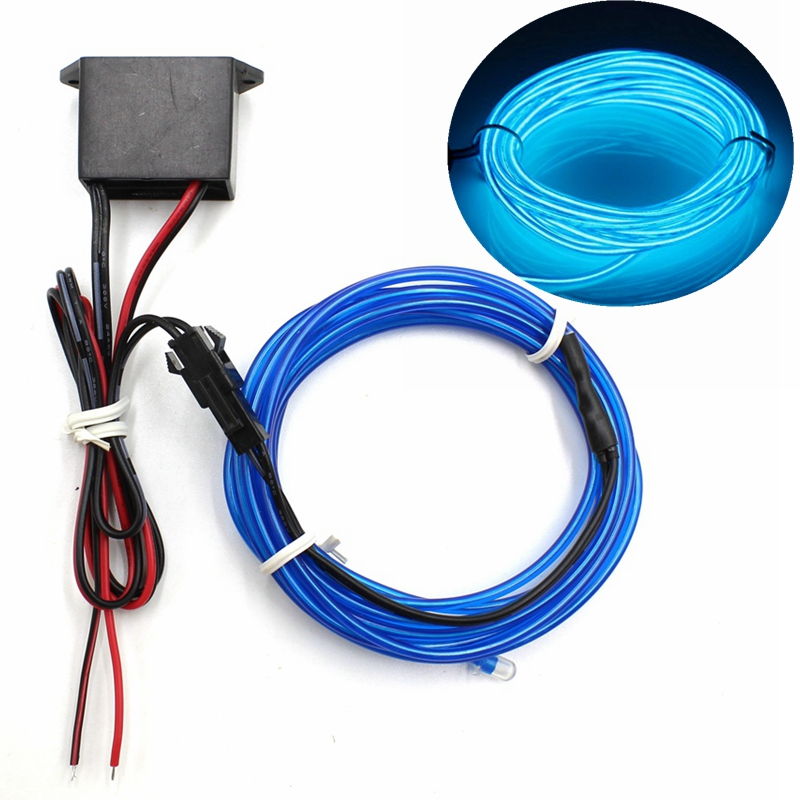1/2/3/5/10M EL Wire With DC12V Controller Neon Light LED Lamp Flexible Twinkle Glow Rope Tube Wire Waterproof LED Strip